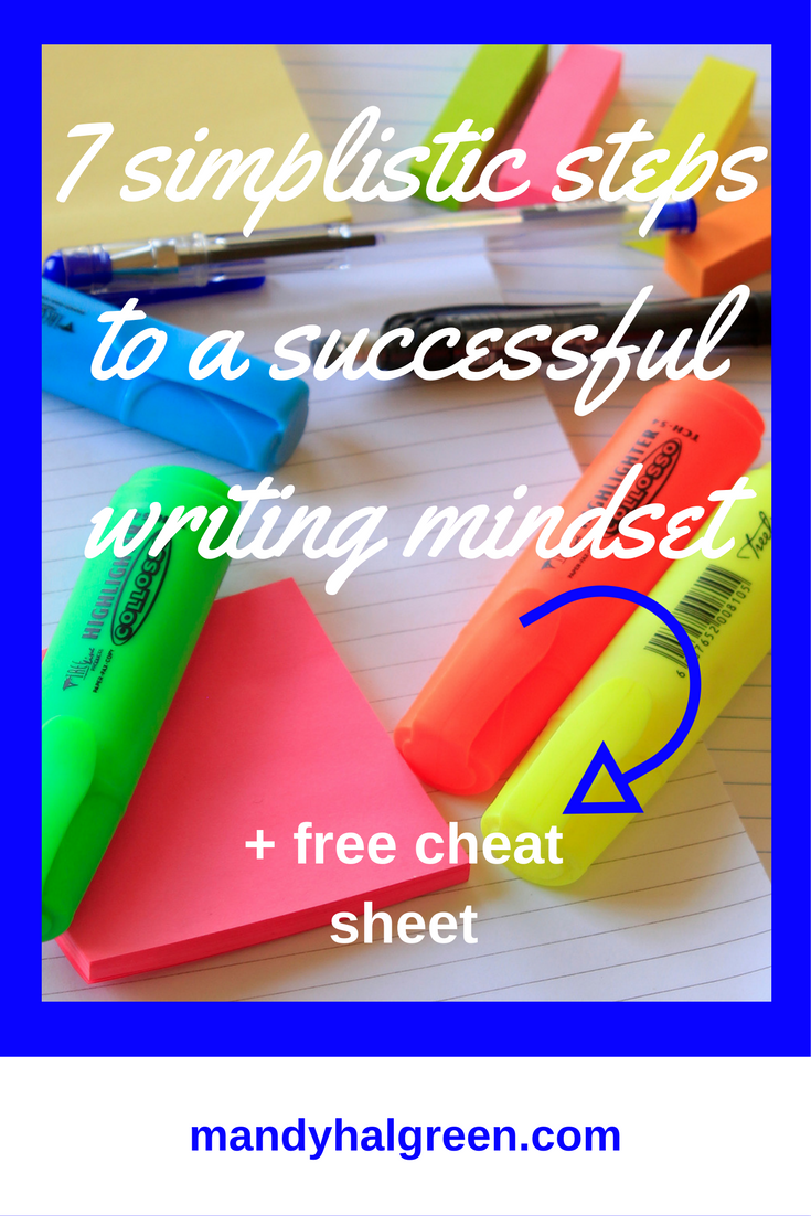 Create a writing mindset quickly and easily with these 7 steps! Be the successful writer you dream of today! @mandyhalgreen
