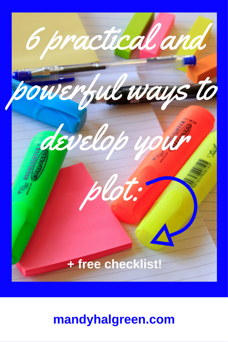 There are 6 ways to plan out your plot before you write your novel! Each method can be tailored to your needs and can take the pressure off creating your plot - view the full post for more! @mandyhalgreen