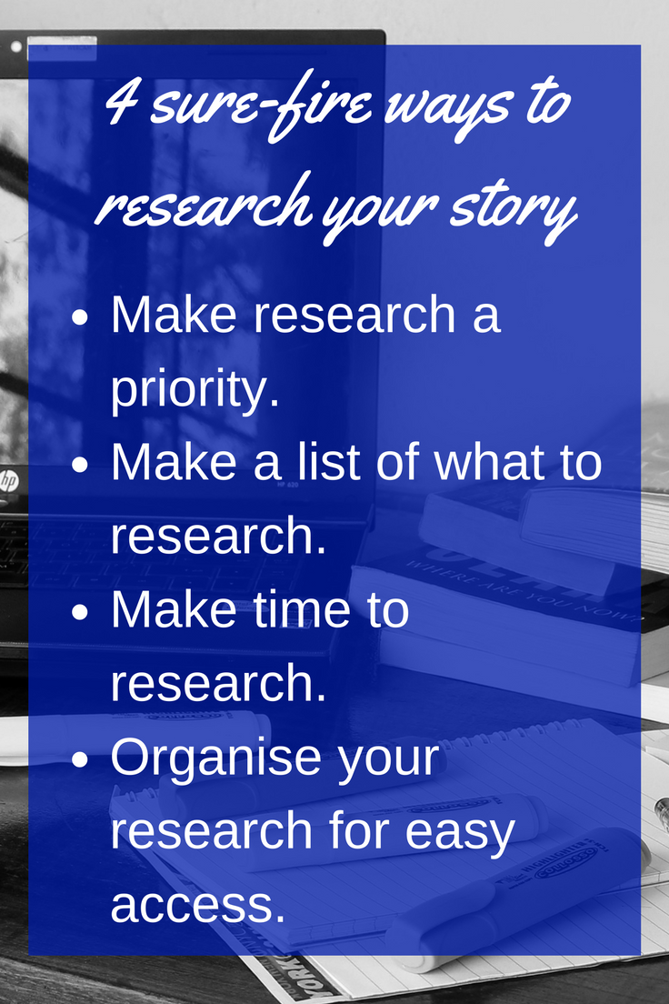 4 sure-fire ways to research your story and reach your writing goals! Read the full post for more @mandyhalgreen