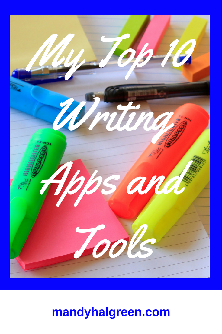 A look at the top 10 apps and tools I use in my daily writing @mandyhalgreen