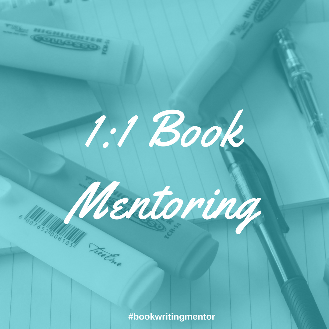 Get 1:1 mentoring to help you write your book!