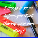 Sharing your own story for the first time, can be daunting and brings up a lot of fear. Today, I want to help you prepare BEFORE you go out and share your story. @mandyhalgreen