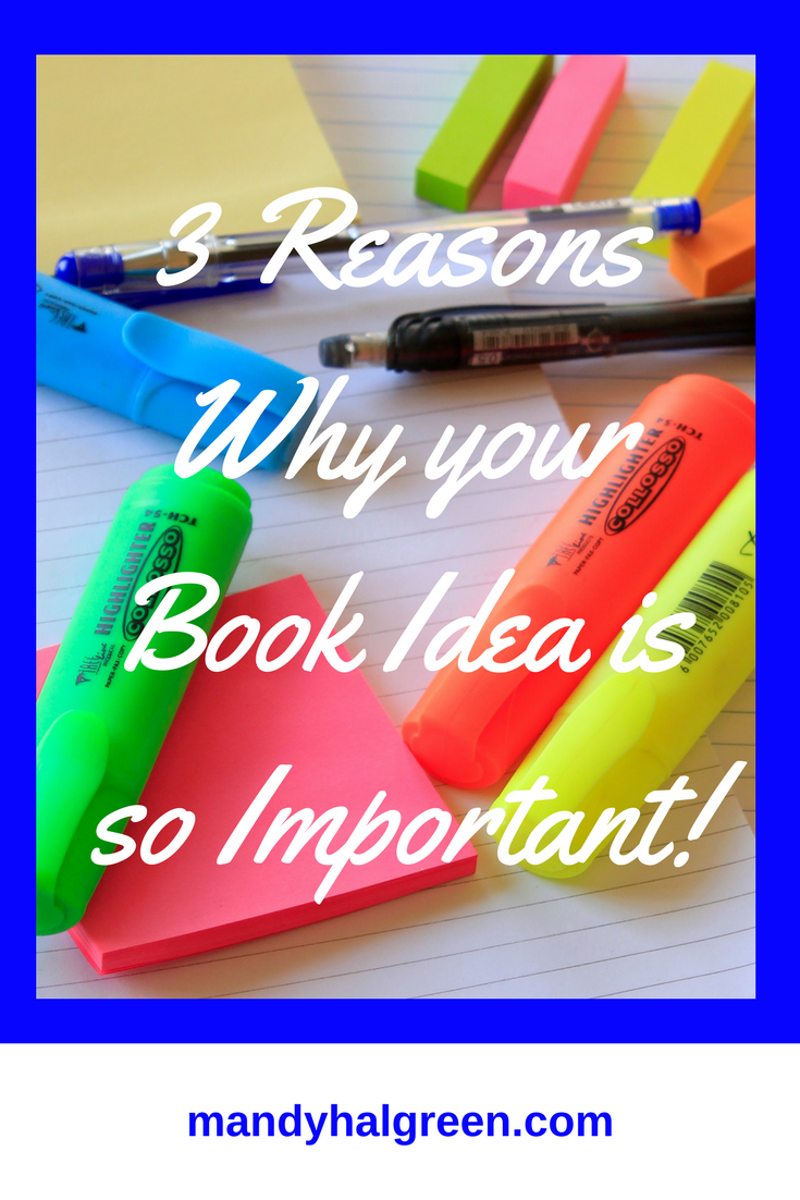 I love writing but it wasn't until I sat down and started writing my own book that I realised just how vital the initial idea is. Today, I want to walk with you and discuss 3 reasons why it's so important, ready? @mandyhalgreen