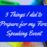 My first speaking event Is coming up and I did 3 things to help me prepare for it. Discover what they are today! @mandyhalgreen